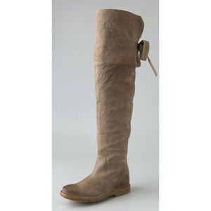 Frye tan celia over the knee boot 9.5
